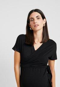 Dorothy Perkins Maternity - BALLET WRAP - T-shirt med print - black - 3