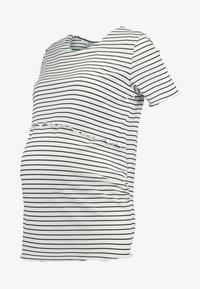Dorothy Perkins Maternity - LAYERED NURSING STRIPE - T-shirt print - navy - 4