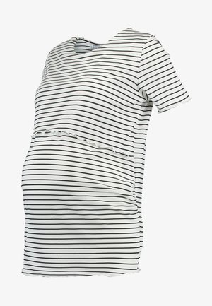 LAYERED NURSING STRIPE - T-shirt z nadrukiem - navy