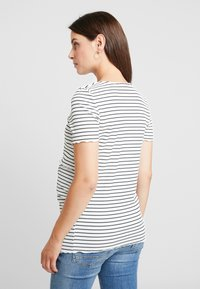 Dorothy Perkins Maternity - LAYERED NURSING STRIPE - Print T-shirt - navy - 2