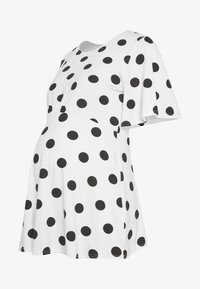Dorothy Perkins Maternity - SLEEVE OVERSIZED SPOT - T-shirt z nadrukiem - ivory - 4