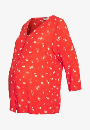 MATERNITY DITSY PRINT CRINKLE - Bluser - red