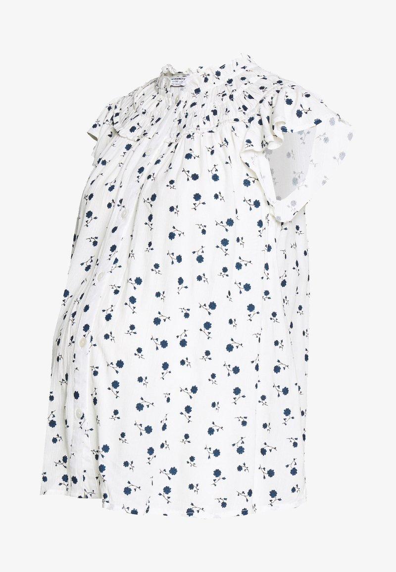 Dorothy Perkins Maternity - DITSY FLORAL BUTTON THROUGH CRINKLE - Koszula - ivory