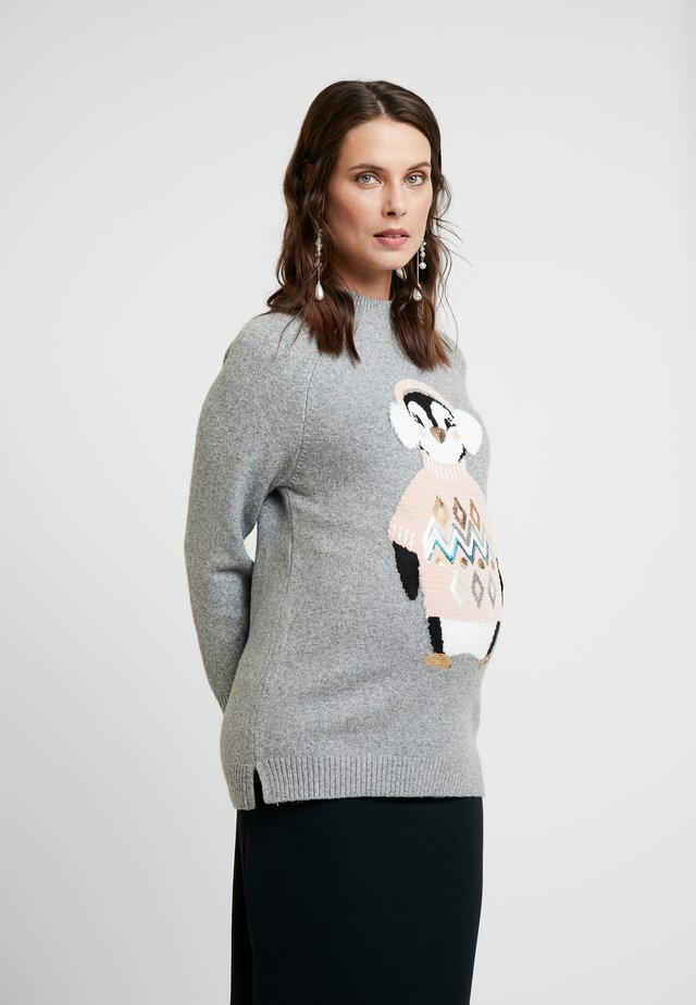 COSY PENGUIN JUMPER - Strickpullover - grey marl