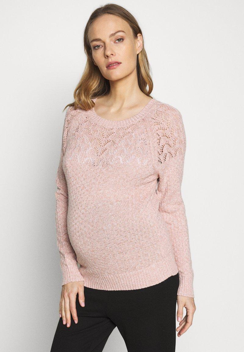 Dorothy Perkins Maternity - PONTELLE YOKE JUMPER - Strikkegenser - pink