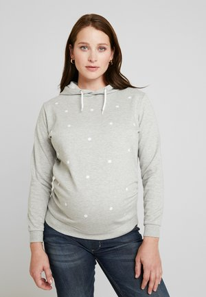 EMBROIDERED HOODY - Mikina - grey