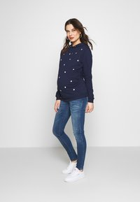 Dorothy Perkins Maternity - EMBROIDERED HOODY - Sweater - navy - 1