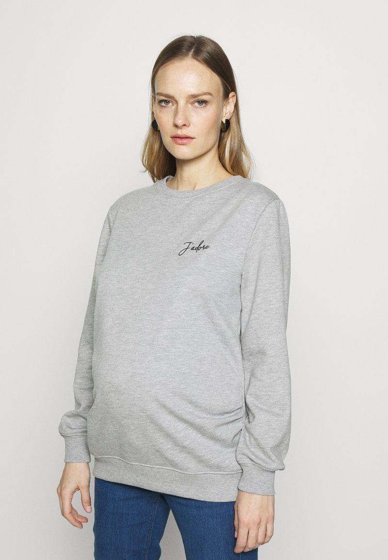 Dorothy Perkins Maternity - JADORE LOGO  - Sweater - grey