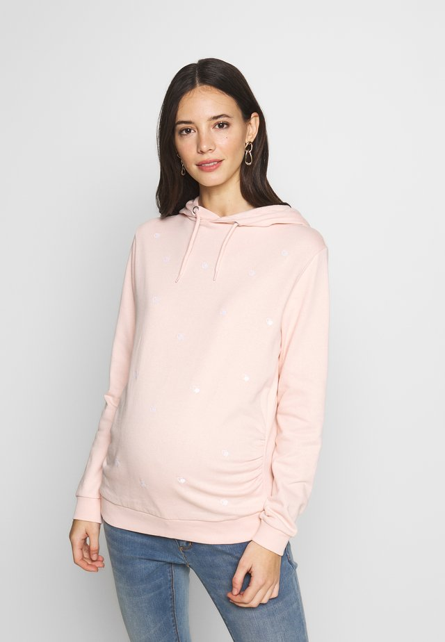 EMBROIDERED HOODY - Sweater - blush