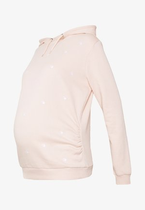 EMBROIDERED HOODY - Sweatshirt - blush