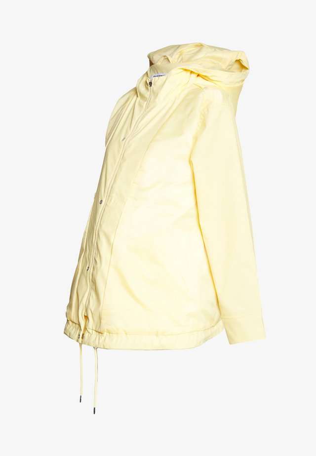 MATERNITY SHORT RAINCOAT - Regnjakke / vandafvisende jakker - lemon