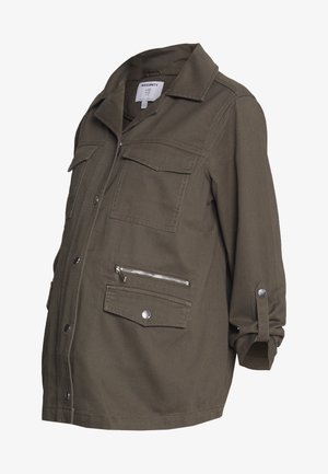 RELAXED SHACKET - Chaqueta fina - khaki