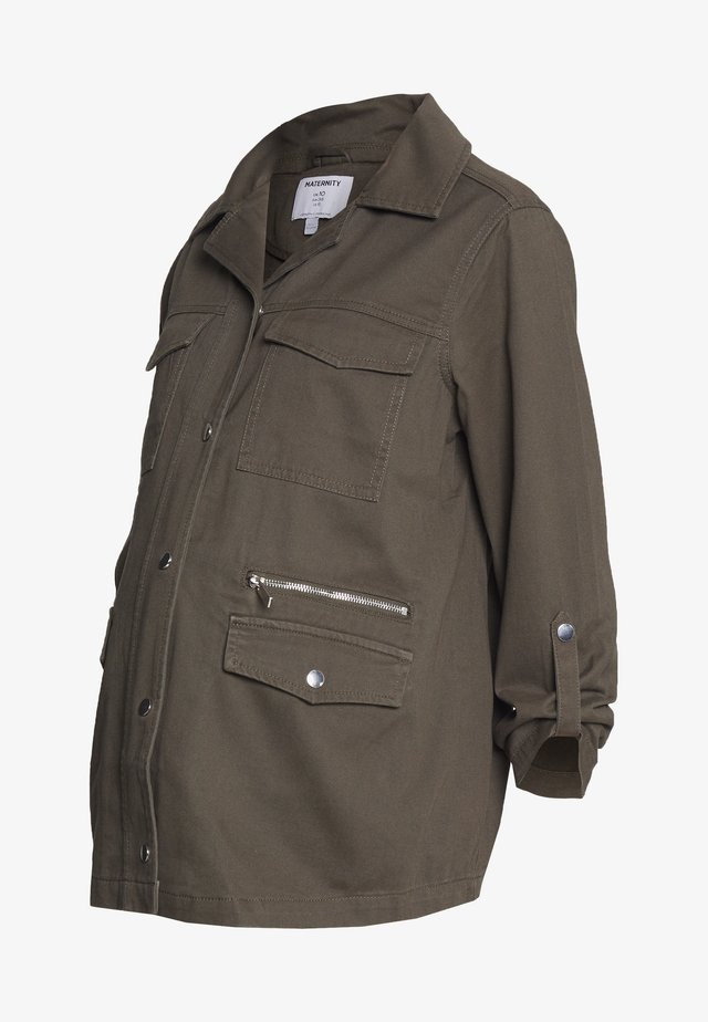 RELAXED SHACKET - Kurtka wiosenna - khaki