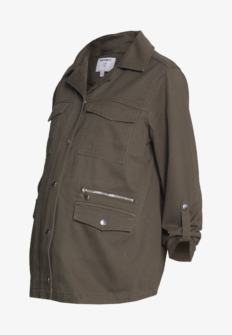 Dorothy Perkins Maternity - RELAXED SHACKET - Summer jacket - khaki