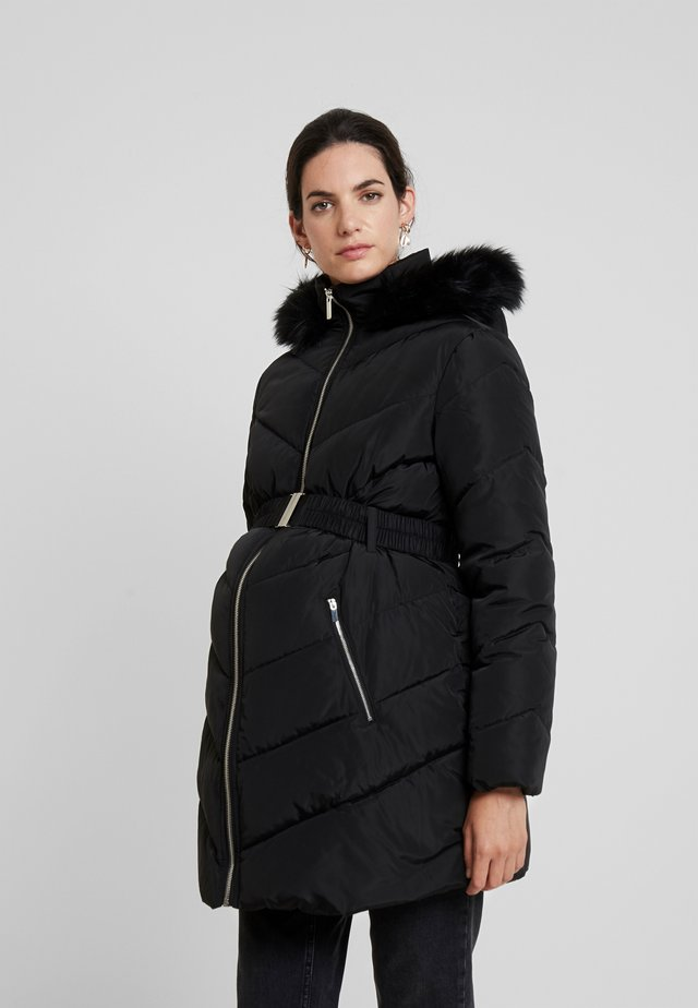 LONG LUXE PADDED - Winter coat - black