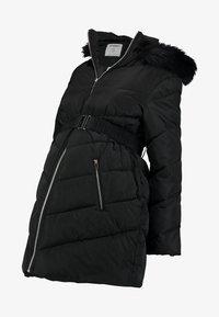 Dorothy Perkins Maternity - LONG LUXE PADDED - Veste d'hiver - black - 4