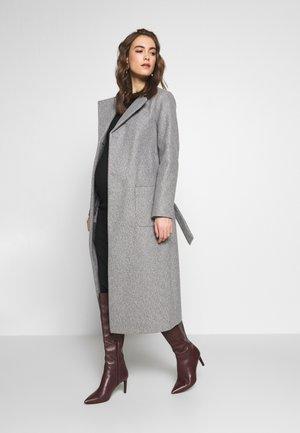 TWILL WRAP COAT - Winter coat - grey marl