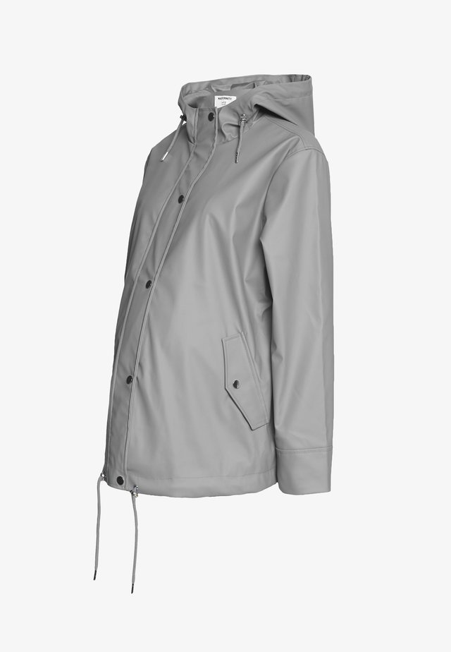 MATERNITY SHORT RAINCOAT - Waterproof jacket - light grey