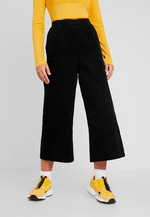 ABEL TROUSERS - Spodnie materiałowe - black