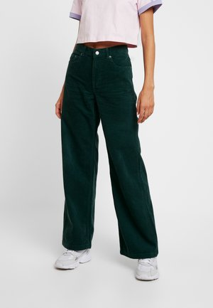 JAM - Kalhoty - deep green cord