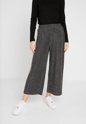ABEL TROUSERS - Spodnie materiałowe - black sparkle