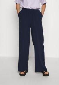Dr.Denim - BELL TROUSERS - Trousers - black opal - 0