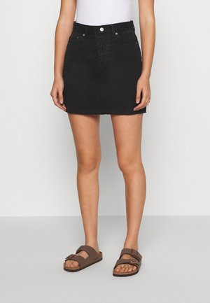 MALLORY SKIRT - Denim skirt - retro black