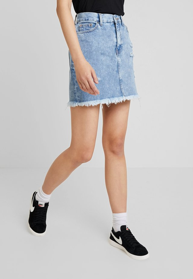MALLORY SKIRT - Gonna di jeans - canyon blue