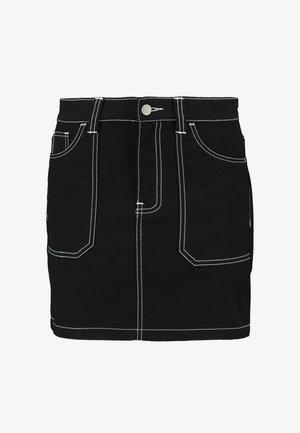 TORI WORKER SKIRT - Minisukně - contrast black