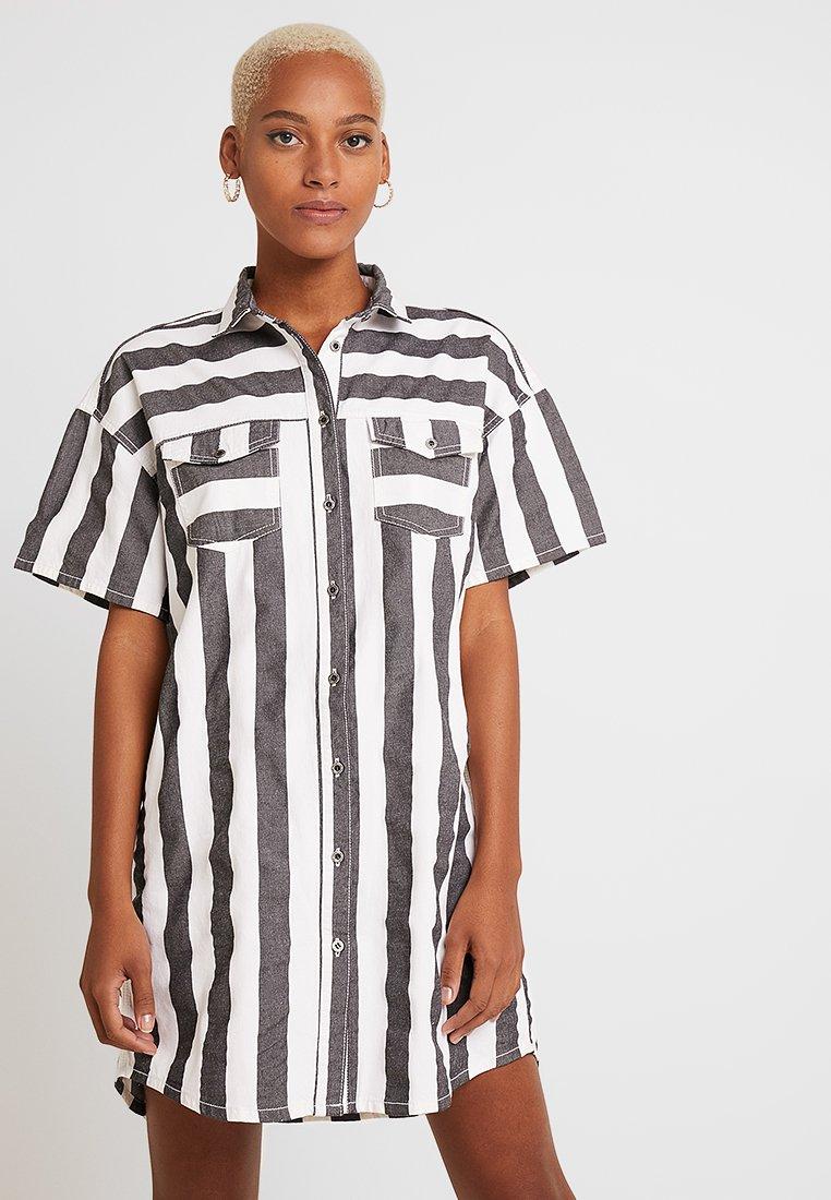 Dr.Denim - VALDIS DRESS - Denim dress - black denim/white