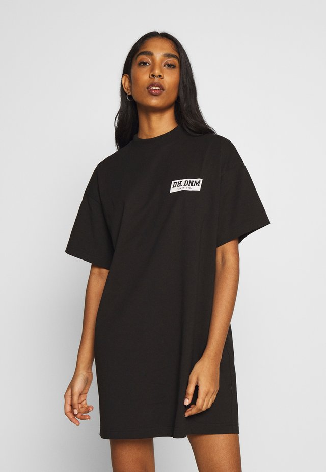 LILL TEE DRESS - Jerseyjurk - black