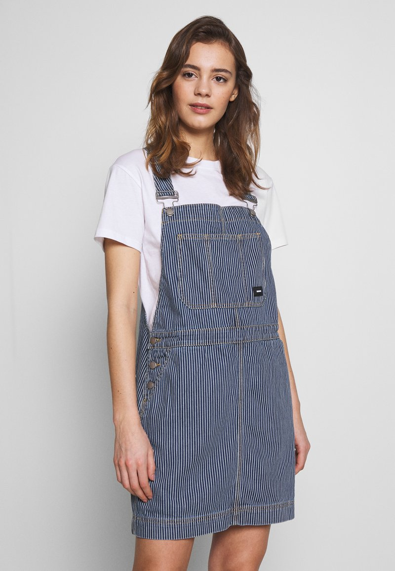 Dr.Denim - MICHIGAN PINAFORE - Denimové šaty - shift workers washed