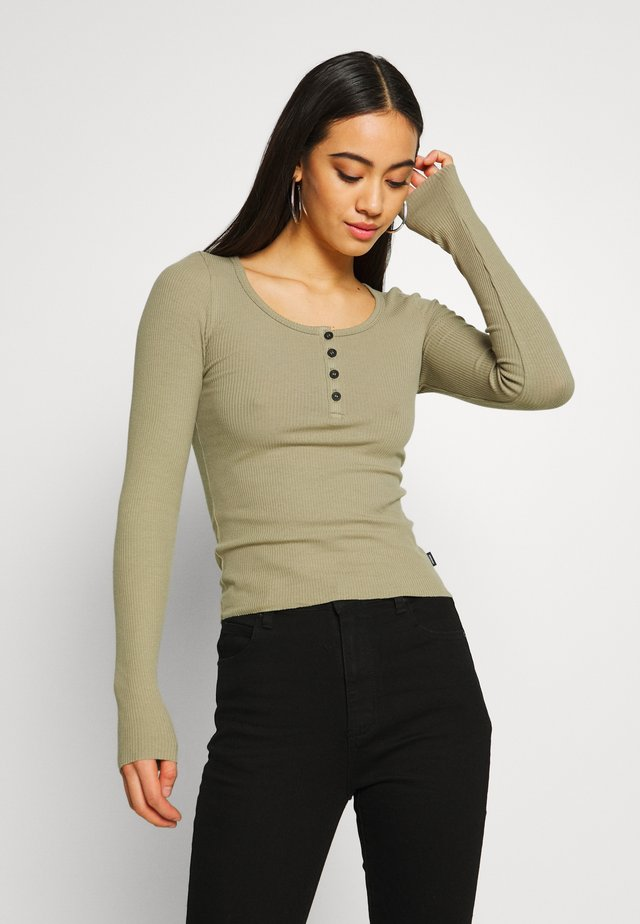 TONI LONG SLEEVE - Long sleeved top - green agate