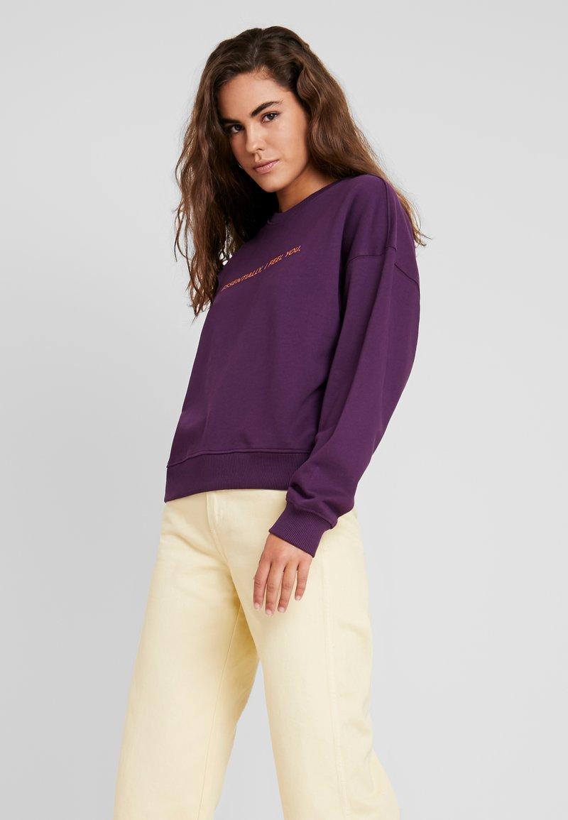Dr.Denim - GLADE - Sweatshirt - deep purple essentially