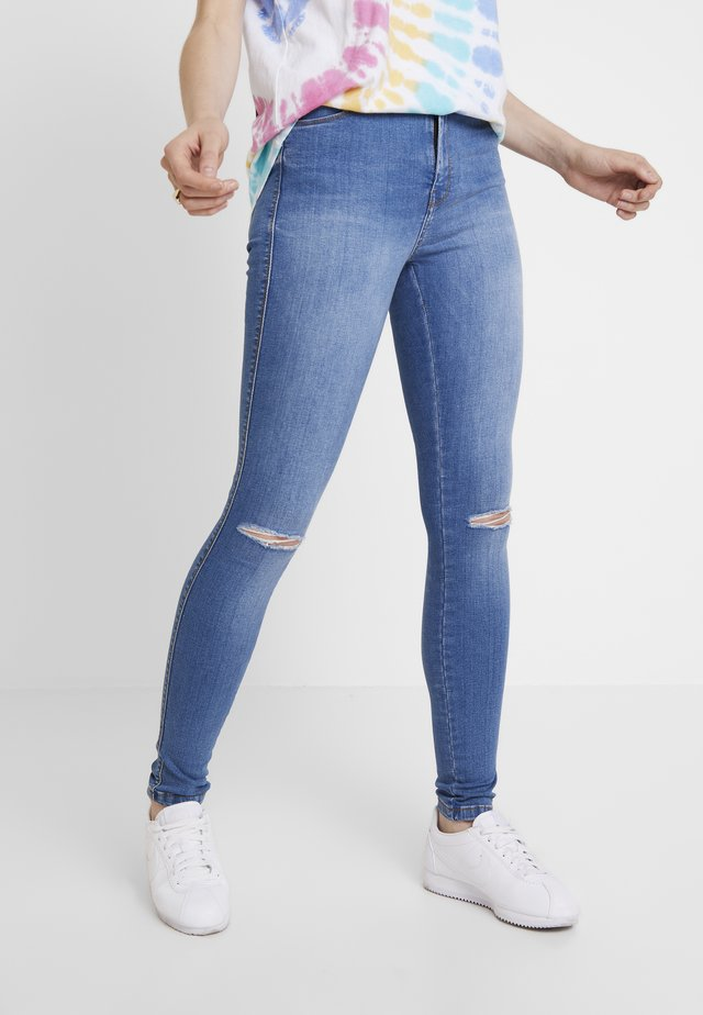 LEXY - Jeans Skinny Fit - laguna blue ripped
