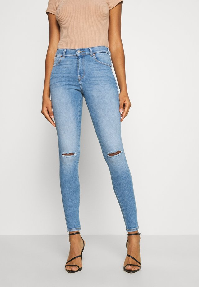LEXY - Jeans Skinny Fit - westcoast light blue ripped