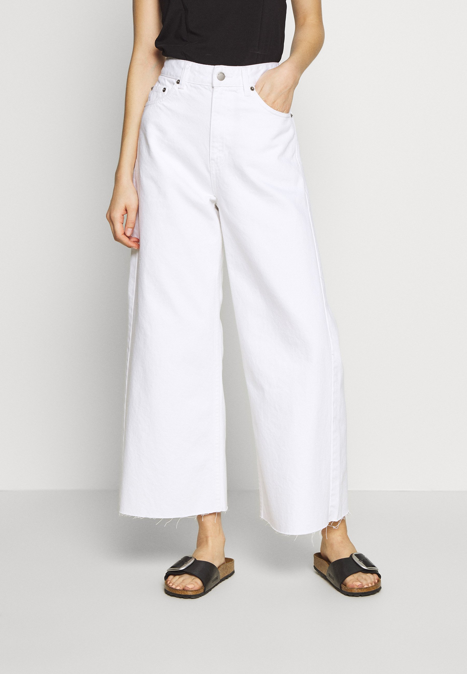 Dr.Denim AIKO - Jeansy Relaxed Fit - white