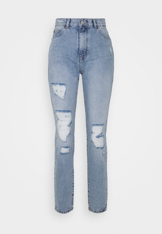 NORA - Jeans baggy - destiny light blue ripped