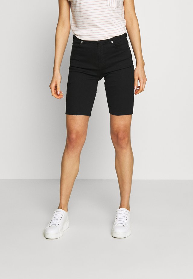 LEXY BICYCLE - Denim shorts - black