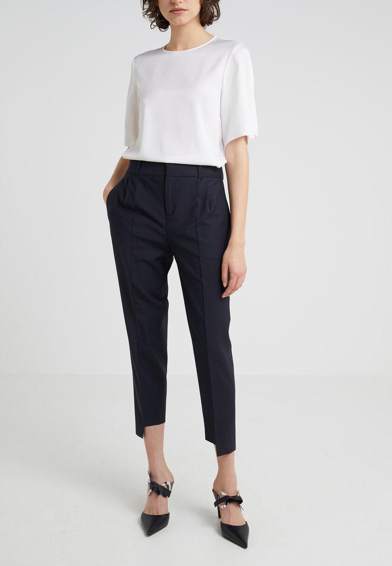 DRYKORN - SLIT - Trousers - dark blue