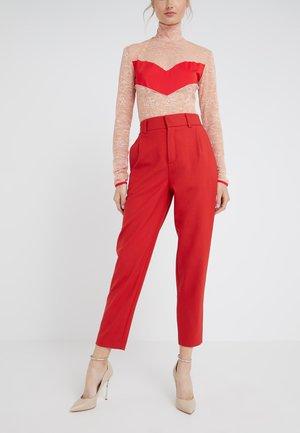 FIND - Spodnie materiałowe - red