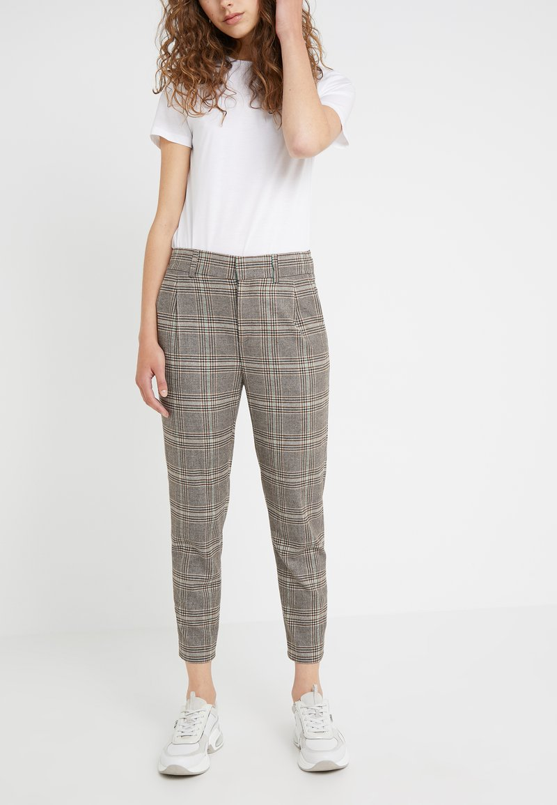 DRYKORN - FIND - Trousers - brown/turquoise