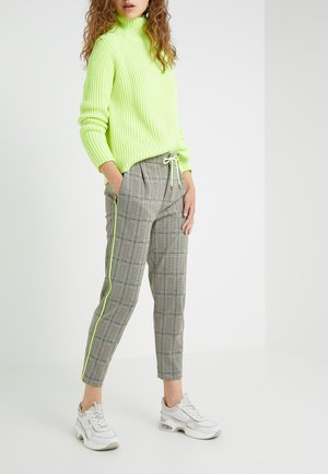 LEVEL - Trousers - check neon