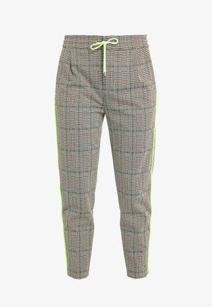 LEVEL - Pantalon classique - check neon