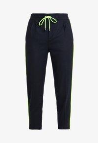 DRYKORN - LEVEL - Kalhoty - navy/neon yellow - 3