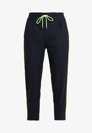 LEVEL - Trousers - navy/neon yellow