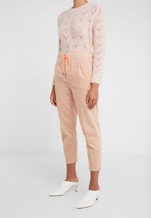 LEVEL - Kalhoty - pink /neon orange