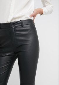 DRYKORN - WINCH - Leather trousers - black - 5