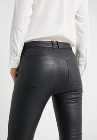 DRYKORN - WINCH - Leather trousers - black - 3