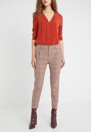 LOAD - Pantalon classique - orange check